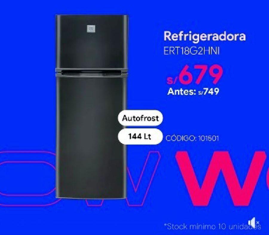 Oferta de Refrigeradoras Electrolux por S/ 679