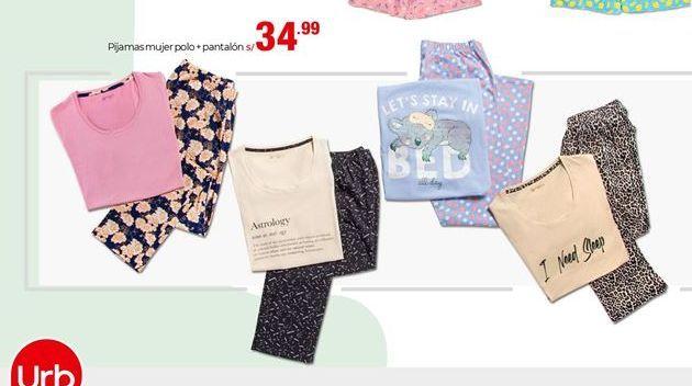 Oferta de Pijama mujer polo + pantalon  por S/ 34,99