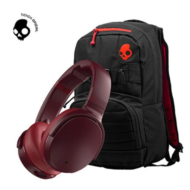 Oferta de Audifono Skullcandy Venue Active Noise Cancelling Moab + Mochila Skulldaylong Black por S/ 499