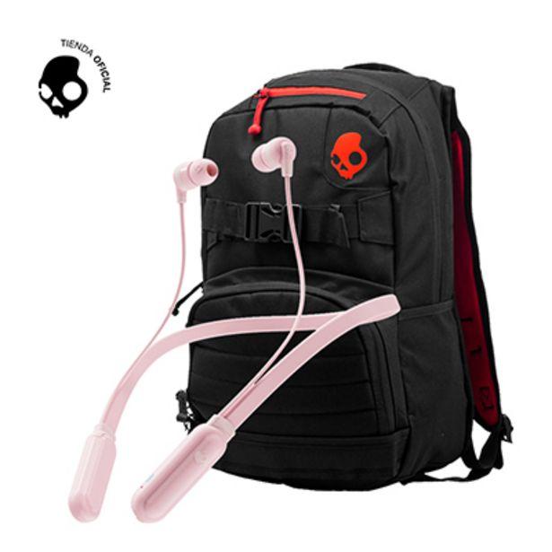Oferta de Audifono Skullcandy Ink+ BT Pink + Mochila Skulldaylong Black por S/ 169