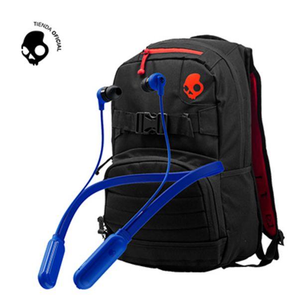 Oferta de Audifono Skullcandy Ink+ BT Blue + Mochila Skulldaylong Black por S/ 169