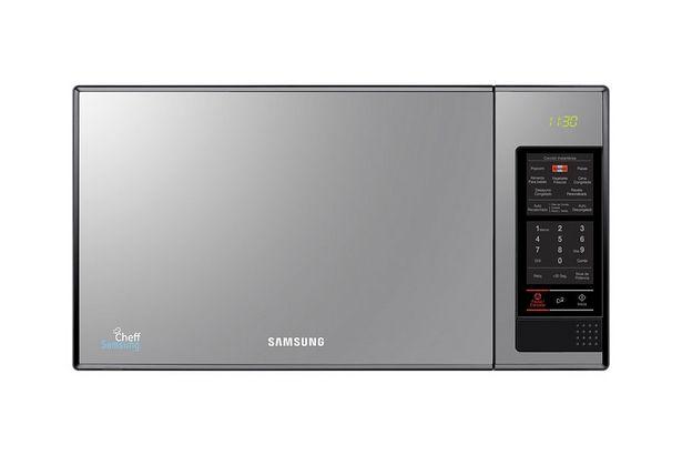 Oferta de Microondas Samsung Mirror con Dorador 23L por S/ 389