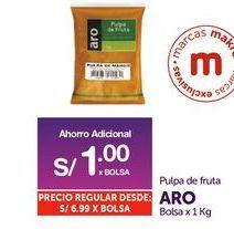 Oferta de Pulpa de fruta Aro por S/ 1