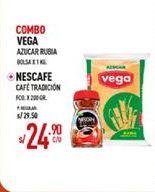 Oferta de Combo azúcar rubia Vega + cafe Nescafe por S/ 24,9