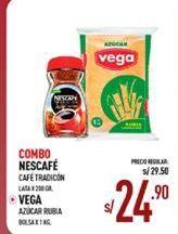 Oferta de  Combo café Nescafé + azucar rubia Vega por S/ 24,9