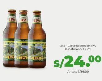 Oferta de 3x2 - Cerveza Kunstmann Session IPA 330 ml por S/ 24