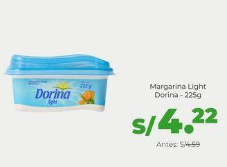 Oferta de Margarina Dorina Light - Pote 225 gr por S/ 4,22