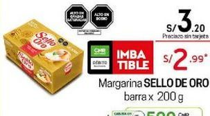 Oferta de Margarina Sello de Oro por S/ 2,99