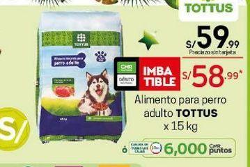 Oferta de Comida para perros Tottus por S/ 58,99