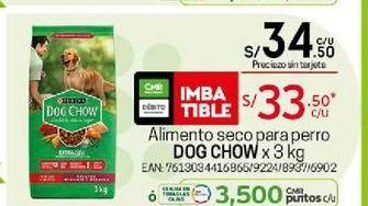 Oferta de Comida para perros Dog Chow por S/ 33,5
