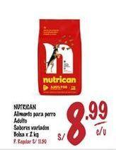 Oferta de Comida para perros Nutrican por S/ 8,99