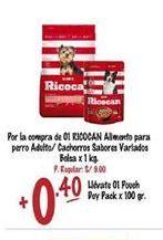 Oferta de Comida para perros Ricocan por S/ 0,4