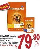 Oferta de Comida para perros Mimaskot por S/ 79,9