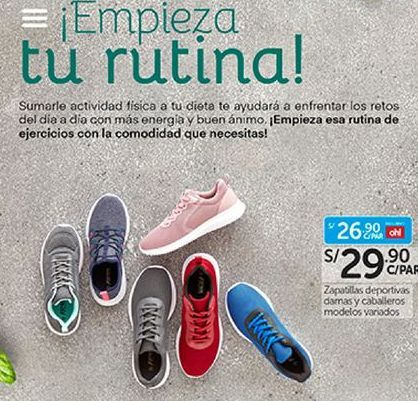 Oferta de Zapatillas de running por S/ 29,9
