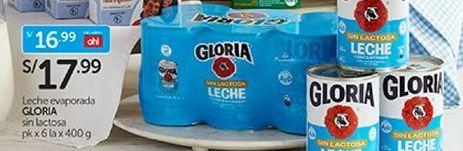 Oferta de Leche evaporada Gloria por S/ 17,99