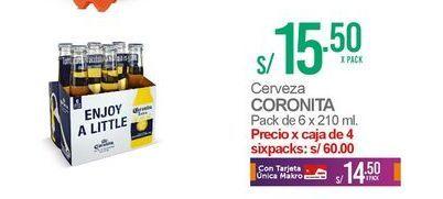 Oferta de Cerveza Coronita por S/ 15,5
