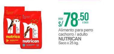 Oferta de Comida para perros Nutrican por S/ 78,5