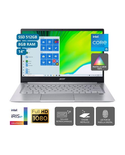 Oferta de LAPTOP ACER SWIFT 3 INTEL CORE I5 14' 8GB 512GB SSD por S/ 4599