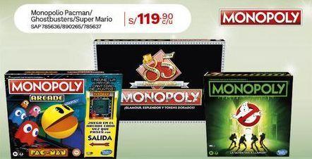 Oferta de Monopolio Pacman/Ghostbusters/Super Mario por S/ 119,9