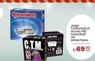 Oferta de Juego Contra todo el mundo +18/ Rummikub por S/ 69,9