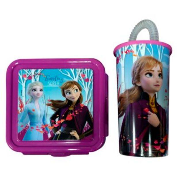 Oferta de Set de Vaso Mágico Frozen 450ml + Taper 480ml por S/ 9,9