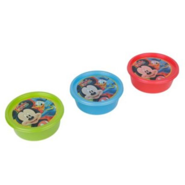 Oferta de Set 3 tapers snack Mickey por S/ 3,9