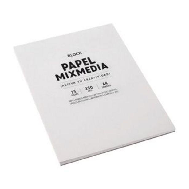 Oferta de Block Papel Papel Mixmedia 25 hojas por S/ 18,9