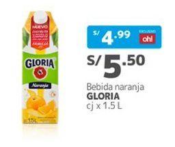 Oferta de Jugo de frutas Gloria por S/ 5,5