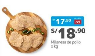 Oferta de Filetes de pollo empanado por S/ 18,9