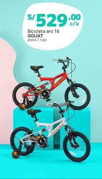 Oferta de Bicicleta para niños Goliat por S/ 529