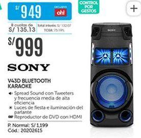 Oferta de Parlantes bluetooth Sony por S/ 999