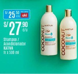 Oferta de Shampoo Kativa por S/ 27,9