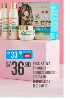 Oferta de Shampoo Kativa por S/ 36,9