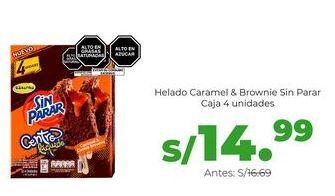 Oferta de Helado Caramel & Brownie Sin Parar - Caja 4 unidades por S/ 14,99