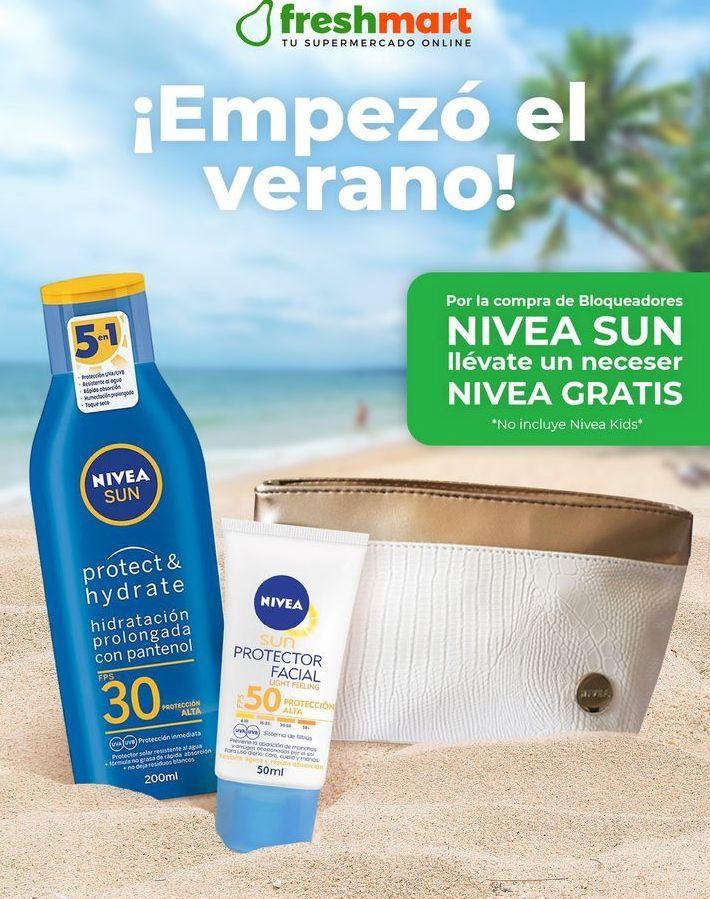 Oferta de Por la compra de Bloqueadores Nivea Sun, llévate un Neceser Nivea GRATIS. *No incluye Nivea Kids* por