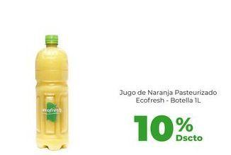 Oferta de Jugo de Naranja Pasteurizado Ecofresh - Botella 1L por