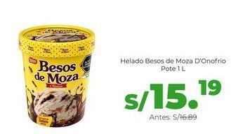 Oferta de Helado Besos de Moza Donofrio - Pote 1 Lt por S/ 15,19
