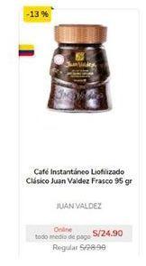 Oferta de Café instantáneo Juan Valdez por S/ 24,9