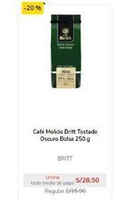 Oferta de Café molido Britt por S/ 28,5