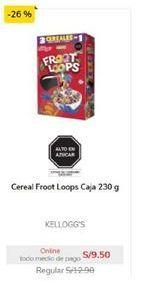 Oferta de Cereales Kellogg's por S/ 9,5