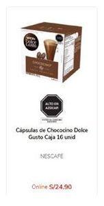 Oferta de Cápsulas de café Dolce Gusto por S/ 24,9