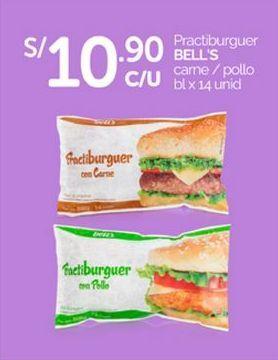 Oferta de Hamburguesas Bell's por S/ 10,9