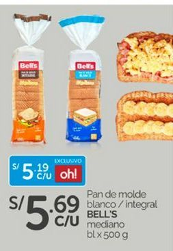 Oferta de Pan de molde Bell's por S/ 5,69