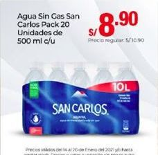 Oferta de Agua San Carlos por S/ 8,9