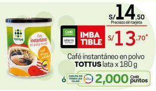 Oferta de Café instantáneo Tottus por S/ 13,7