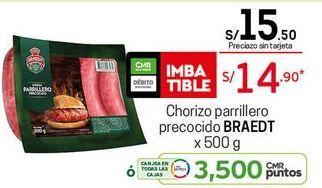 Oferta de Chorizo Braedt por S/ 14,9
