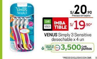 Oferta de Máquina de afeitar Venus por S/ 19,9