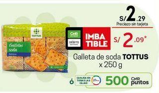 Oferta de Galletas de soda Tottus por S/ 2,09