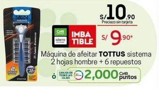 Oferta de Máquina de afeitar Tottus por S/ 9,9
