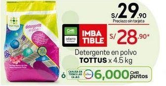 Oferta de Detergente en polvo Tottus por S/ 28,9